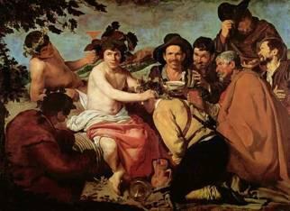 """Diego Velázquez, """"Il trionfo di Dioniso/Bacco"""" (1628 circa). Madrid, Museo del Prado."""