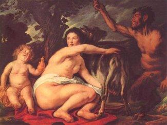 Jacob Jordaens (1593-1678), Zeus allattato dalla capra Amáltheia.
