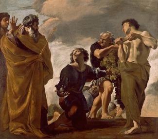 Giovanni Lanfranco, Mosè ed i messaggeri da Canaan (1621-1624), Los Angeles, J. Paul Getty Museum.