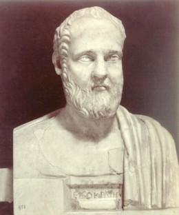 Presunto busto di Isocrate. Roma, Villa Albani.