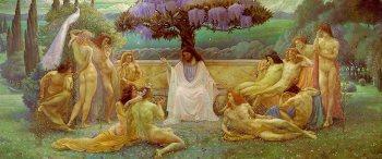"""Jean Delville, """"La Scuola di Platone"""" (1898). Parigi. Musée d'Orsay."""