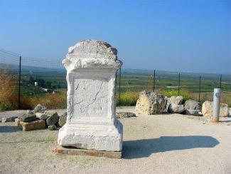 Resti romani sulla collina di Canne.
