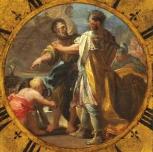 Domenico Antonio Vaccaro (1678-1745): Gerone II, a destra con Archimede, a sinistra.