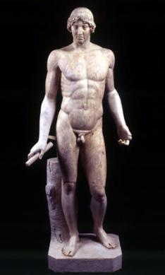 Copia dell'Apollo dell'Omphalos, attribuito allo scultore Kalamis (480-460 a.C.). Roma, Musei Capitolini.
