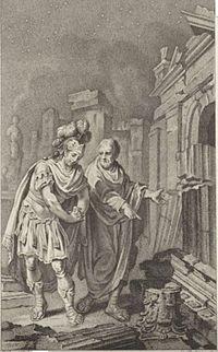 Jacobus Buys, Scipione e Polibio fra le rovine di Cartagine (1797). Rijksmuseum, Amsterdam.