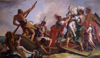 """Sebastiano Ricci (1659-1734), """"Ratto di Elena"""". Parma, Galleria Nazionale."""