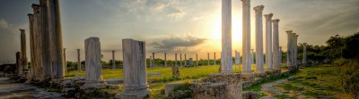 Cipro, costa orientale: rovine di Salamina.