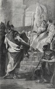 Giambattista Tiepolo, Fabio Massimo davanti al senato cartaginese (1715-1725). Collezione Ribotzi. Principato di Monaco.