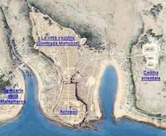 L'area archeologica di Selinunte.