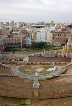 Resti del teatro romano di Cartagena.
