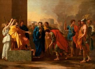 """Nicolas Poussin, """"La clemenza di Scipione"""" (1640). Mosca, Museo Puškin."""